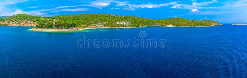 Summer panorama of Vis Island, Croatia. royalty free stock photos