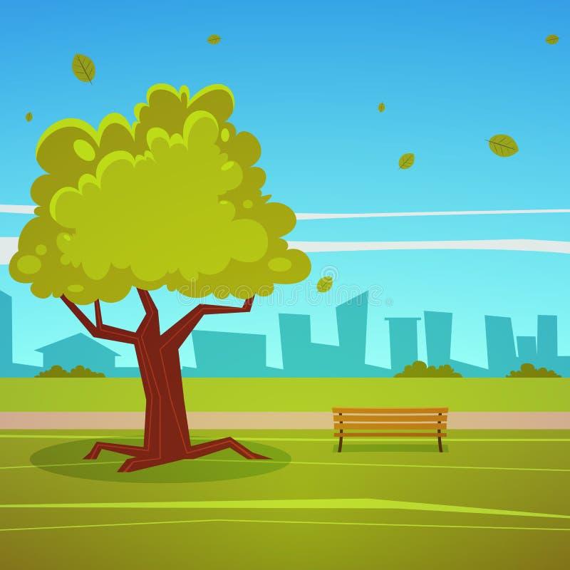 Summer Park vector illustration