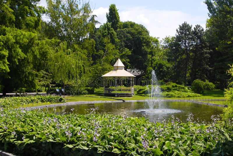 Download Summer park scene stock photo. Image of fountain, park - 15252450
