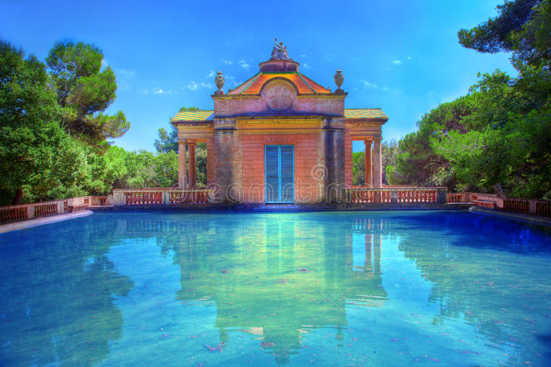 Summer Park With Water Pool Stock Images