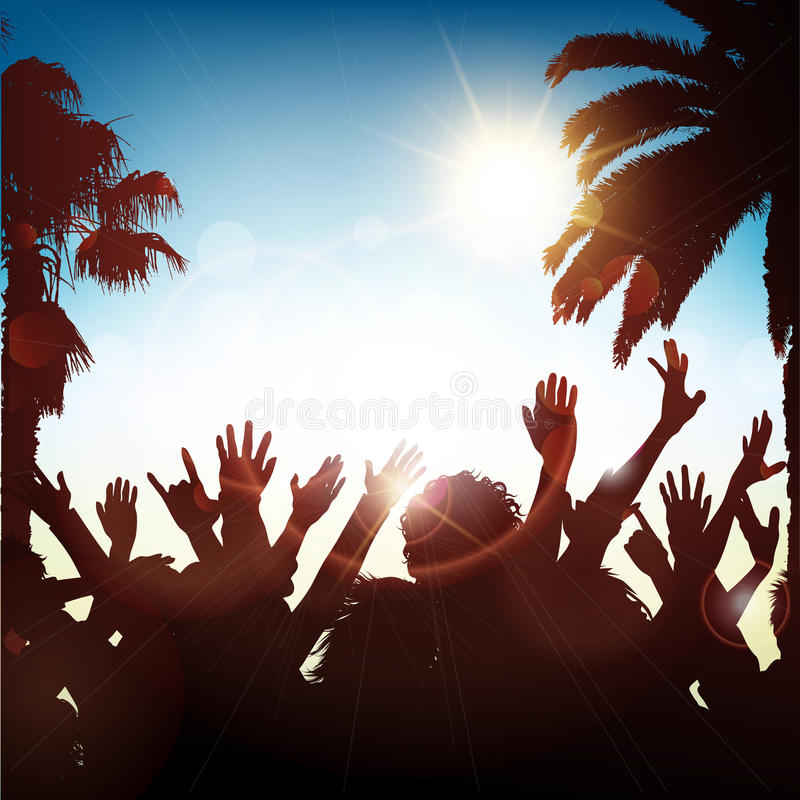 Summer party background vector illustration