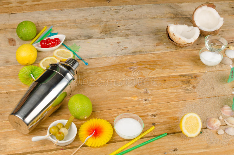 Summer party background stock photography
