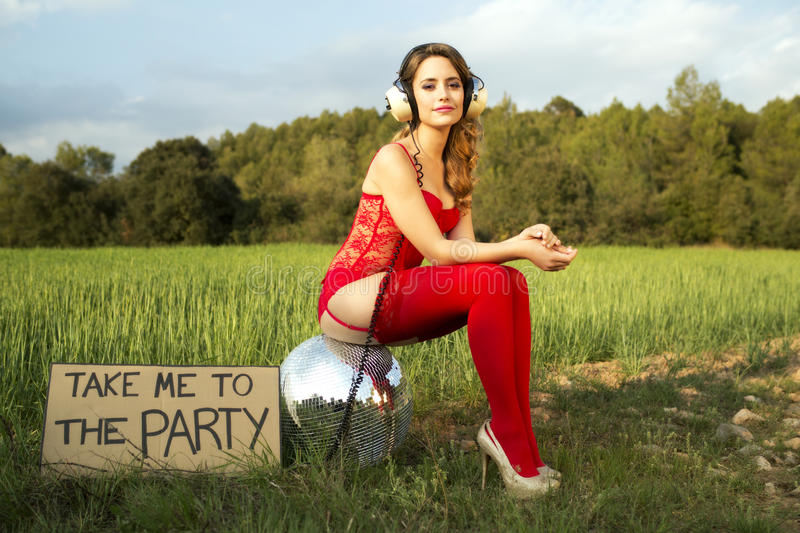 Download Summer Party Disco Girl Stock Image. Image Of Fantasy   40039621