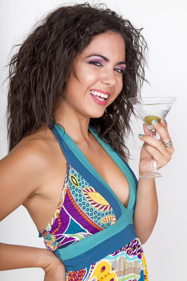 Summer party girl cocktail celebration royalty free stock image