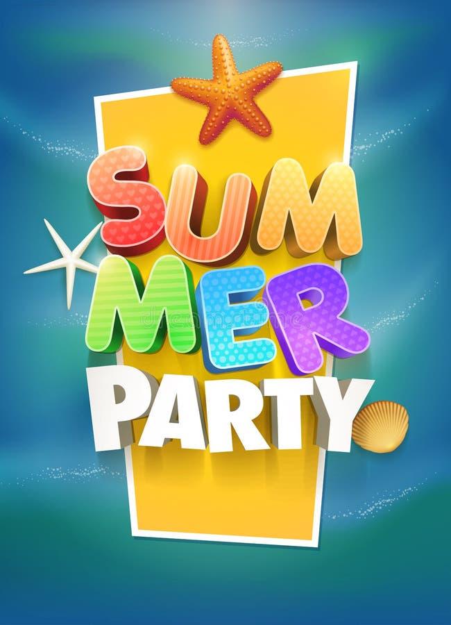 Summer Party Poster vector illustration