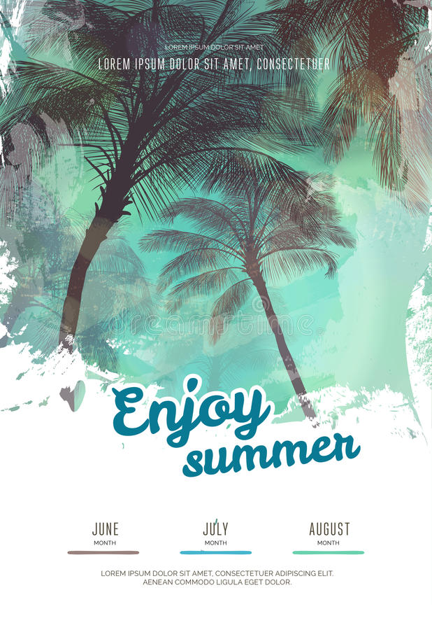 modern summer flyer design posters modern and summer selo l ink co