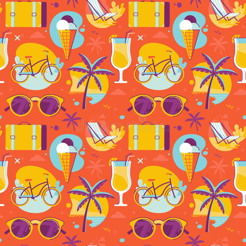 Summer pattern royalty free illustration