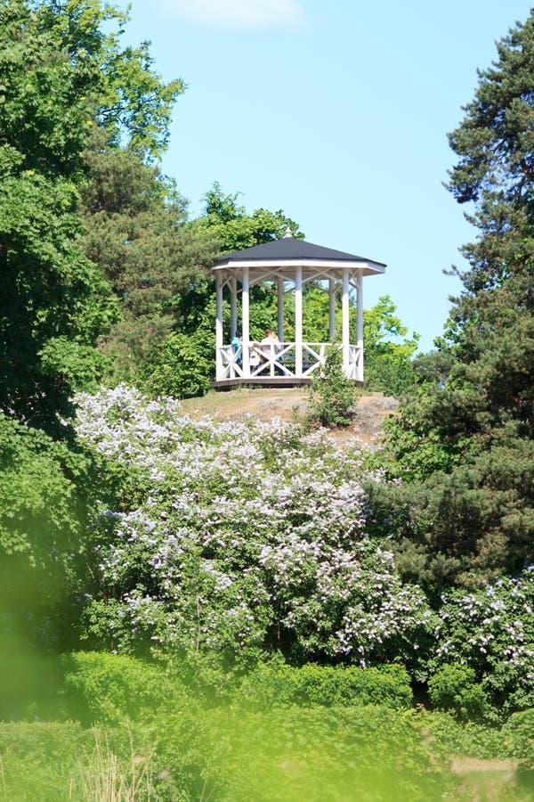Summer pavilion royalty free stock photos