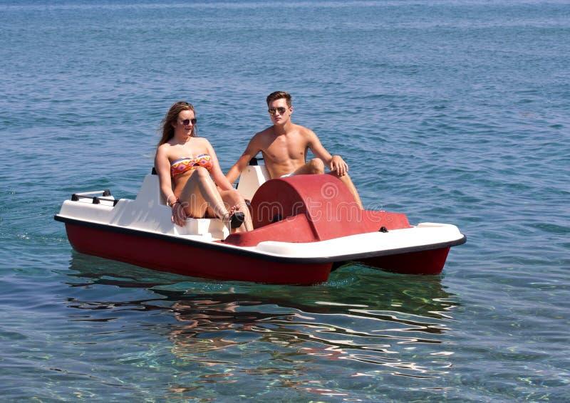 Summer Pedalo Fun royalty free stock photography