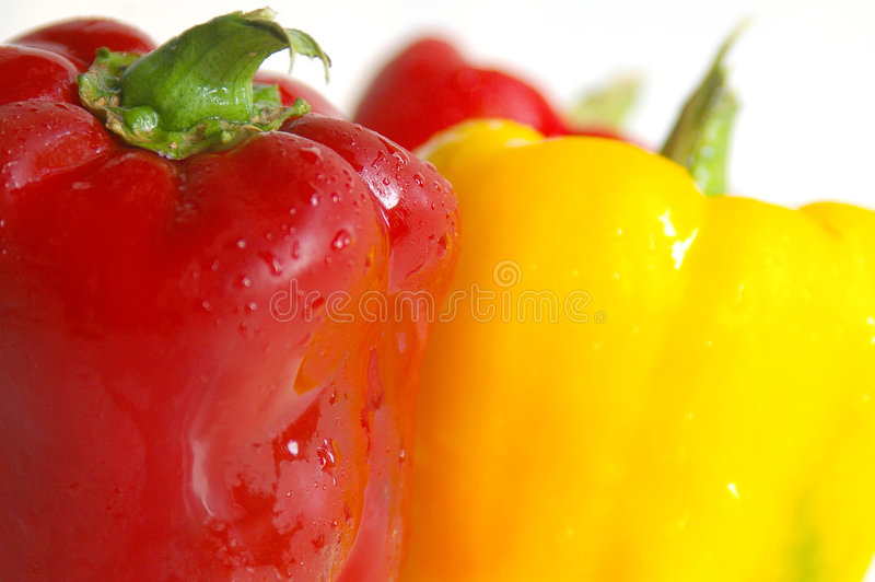 Download Summer peppers stock image. Image of healthy, color, droplets - 247077