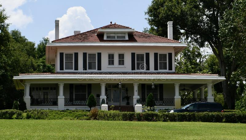 B.K. Bullard House. This is a Summer picture of the historic B.K. Bullard House located in Lake Wales, Florida in Polk County. This two-story brick house is an royalty free stock images