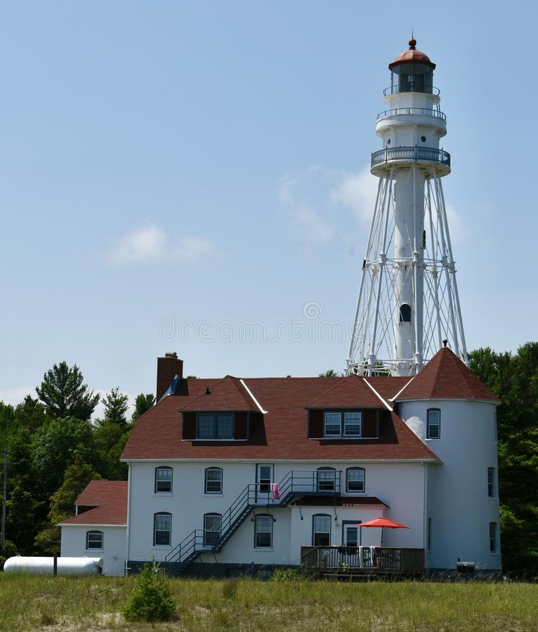 Rawley Point Lighthouse royalty free stock photo