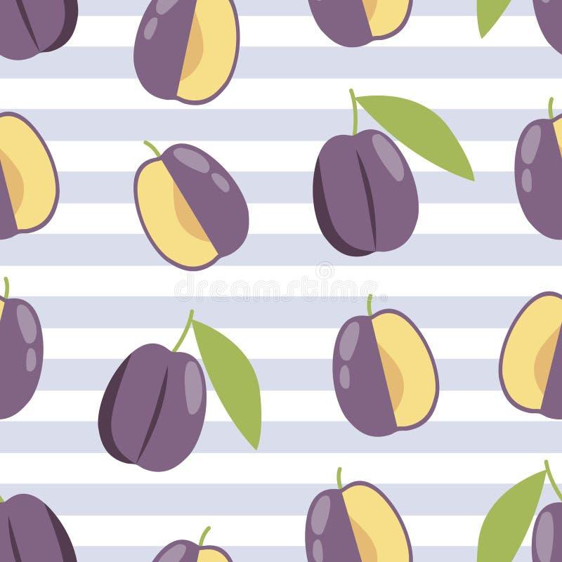 Summer plum background, Fabric pattern. Textile print design. Summer plum background, Fabric pattern for print. Textile print design vector illustration