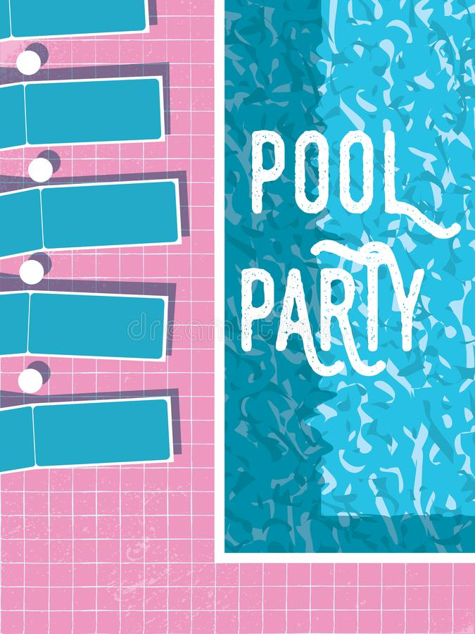 Summer Pool Party Invitation Poster, Flyer Vector Template With ...
