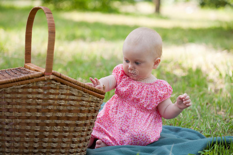 Summer portrait of beautiful baby royalty free stock image