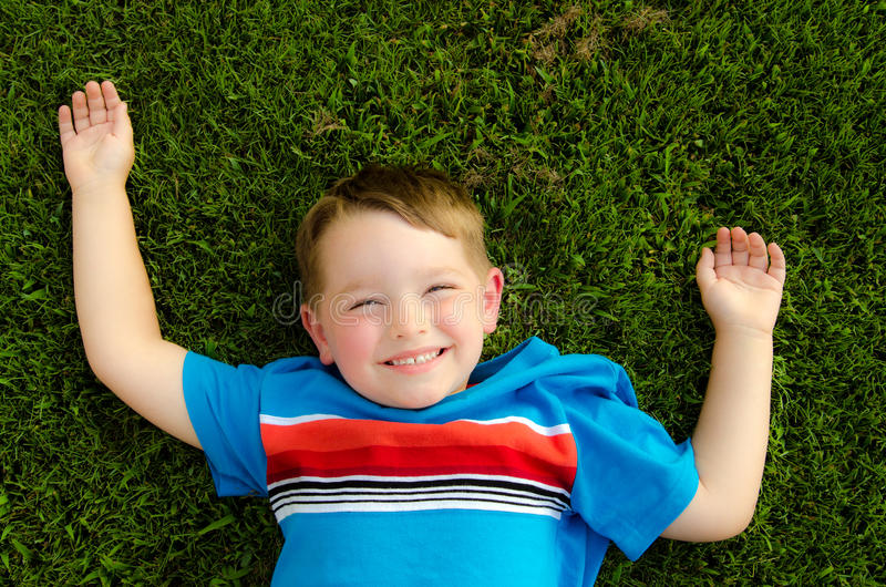 Summer portrait of happy child stock images