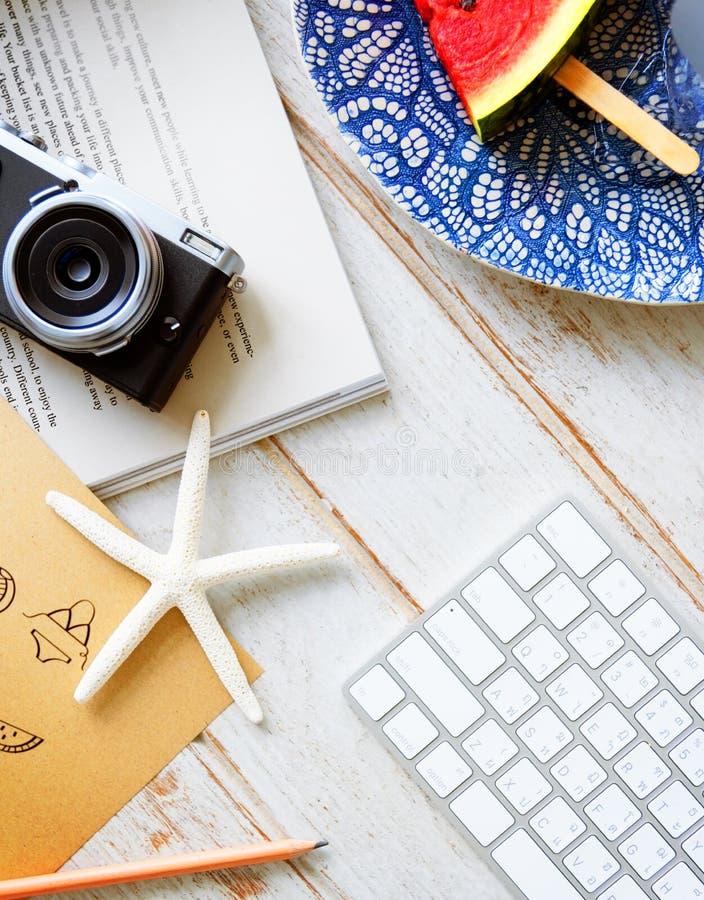 Summer Postcard Camera Travel Journey Concept royalty free stock photos