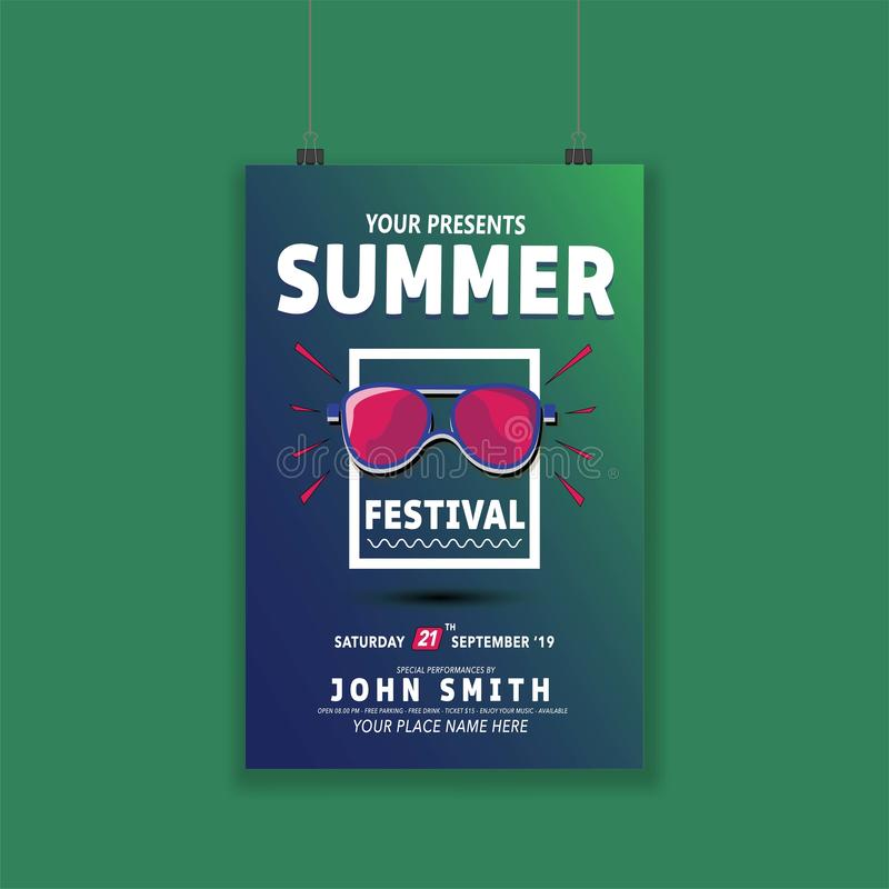 Summer-poster-modern-10 royaltyfri illustrationer
