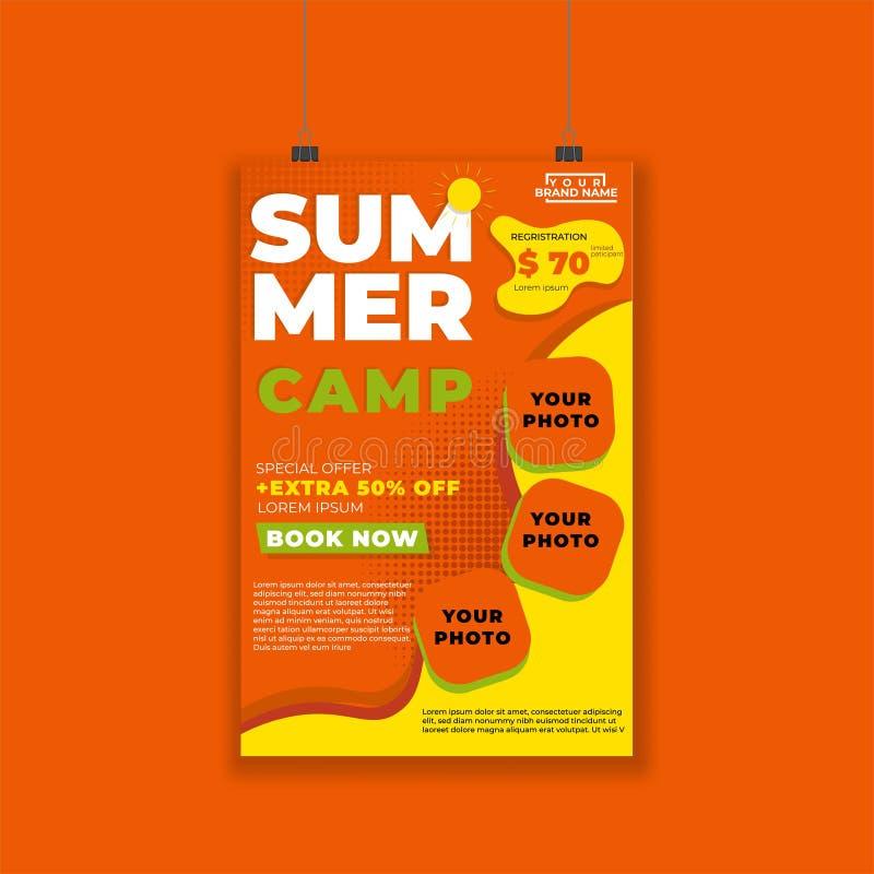 Summer-poster-modern-06 stock illustration