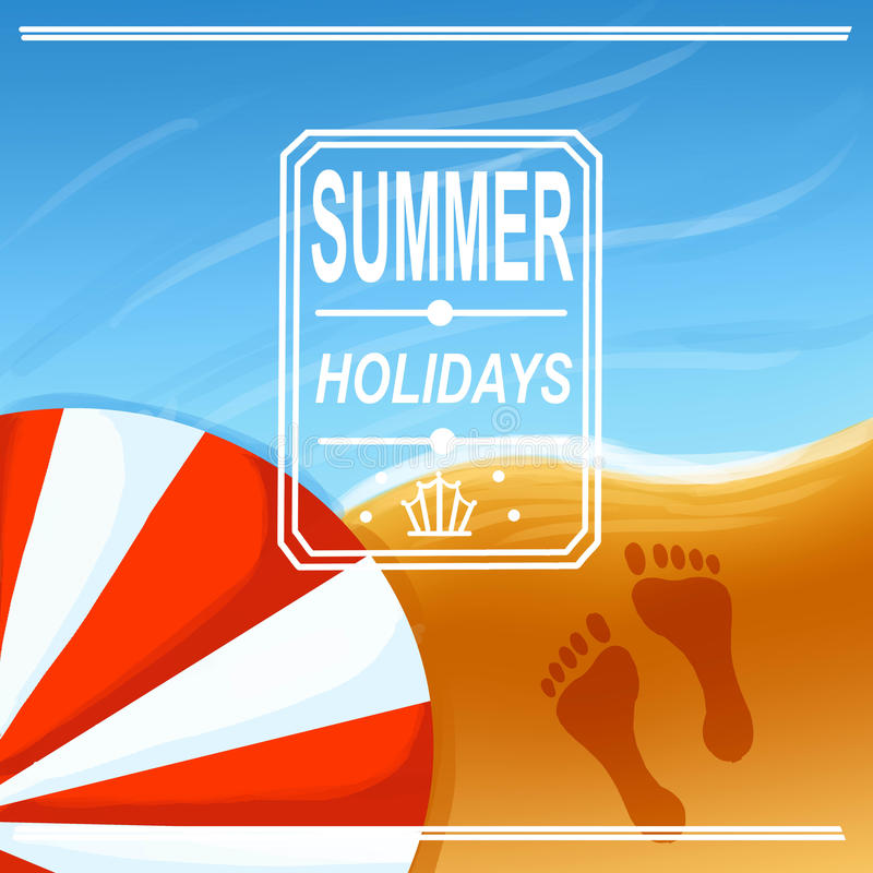 Summer poster stock photography