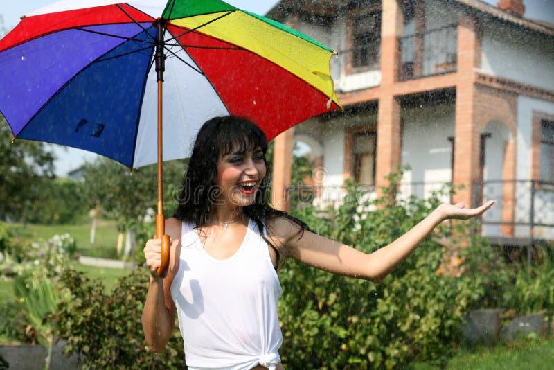Download Summer rain stock image. Image of pretty, healthy, attractive - 8259103