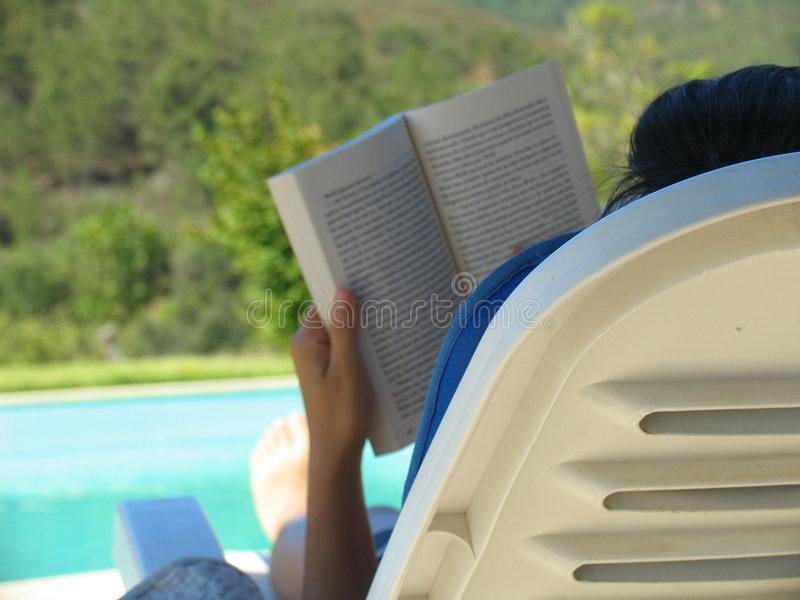 Summer reading stock photography