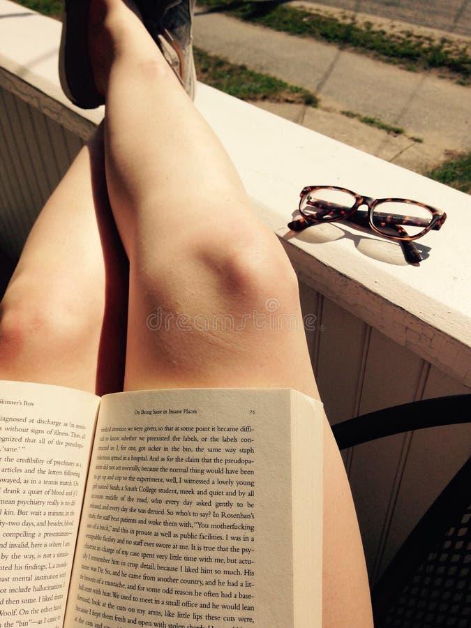 Summer Reading royalty free stock photos