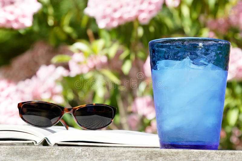 Download Summer reading outside stock photo. Image of refreshing - 21422232