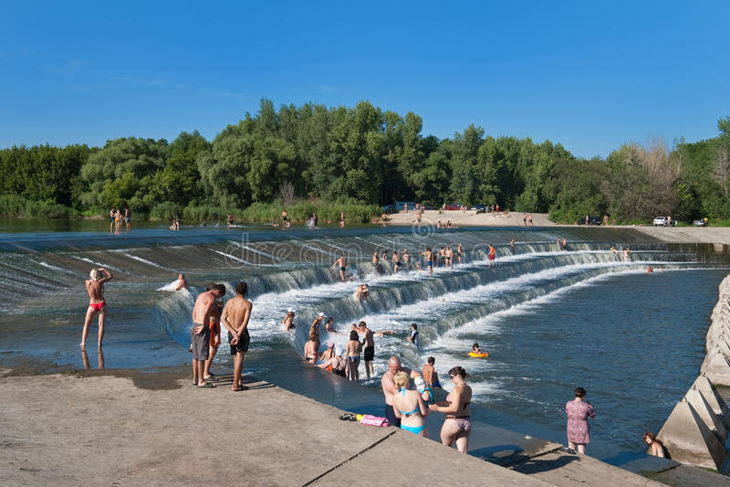 Summer Recreation near a River royalty free stock photo