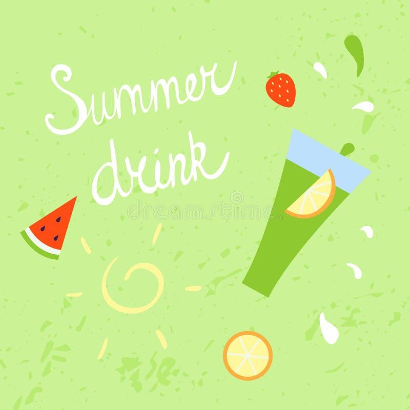 Summer refreshing drink. Vector illustration stock illustration