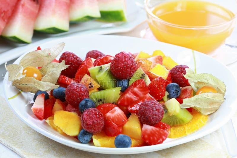 Summer refreshment - fruit salad royalty free stock image