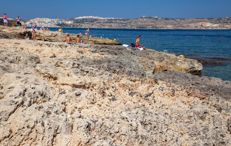 Summer resort - Buggiba at Malta royalty free stock photography