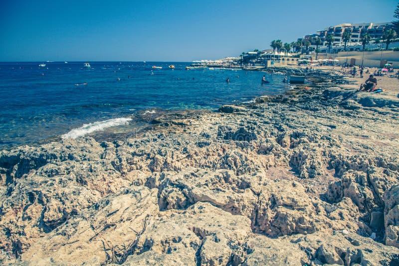 Summer resort - Buggiba at Malta stock image