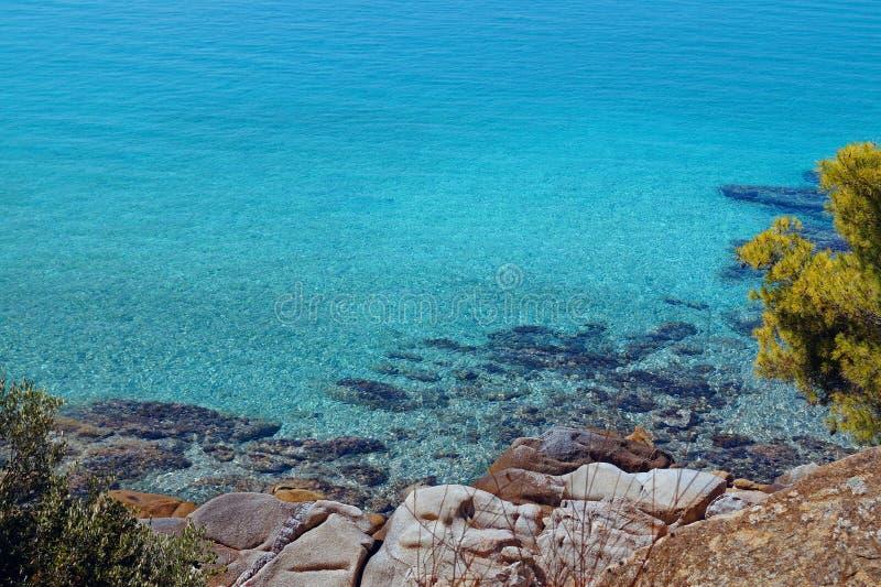 Summer resort of Halkidiki peninsula. In Greece stock images