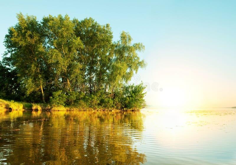 Summer river. River Dnepr royalty free stock photo