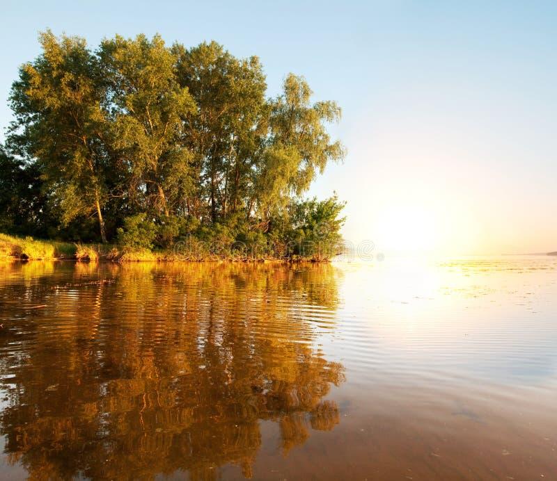 Summer river. River Dnepr stock images