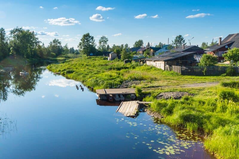 Download Summer riverside stock photo. Image of city, summer, village - 42572710