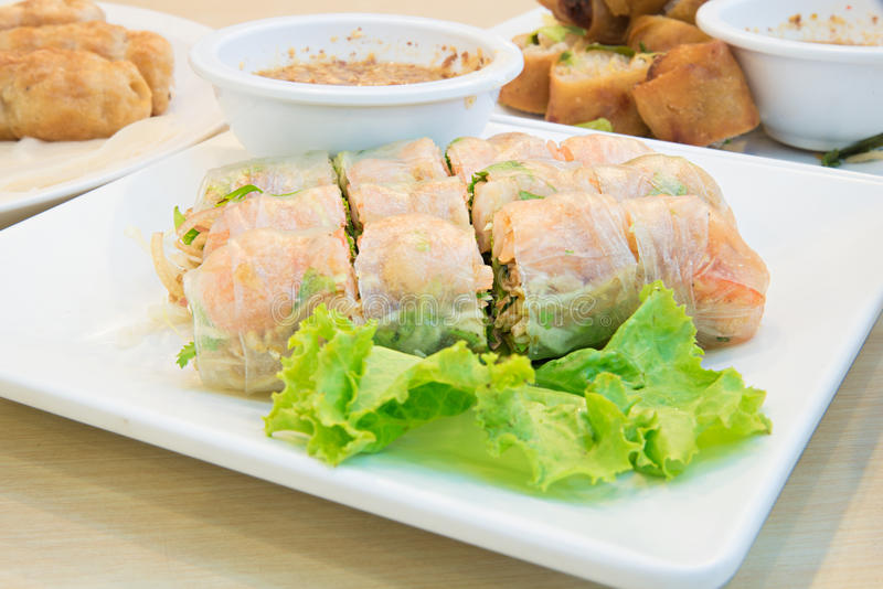 Summer Roll , Salad roll , Fresh Spring Roll , Vietnamese Food royalty free stock photo