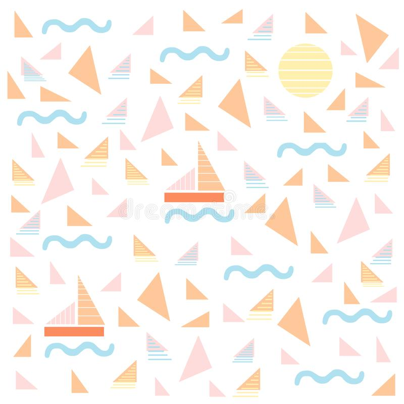 Summer Sailing Background royalty free stock photo