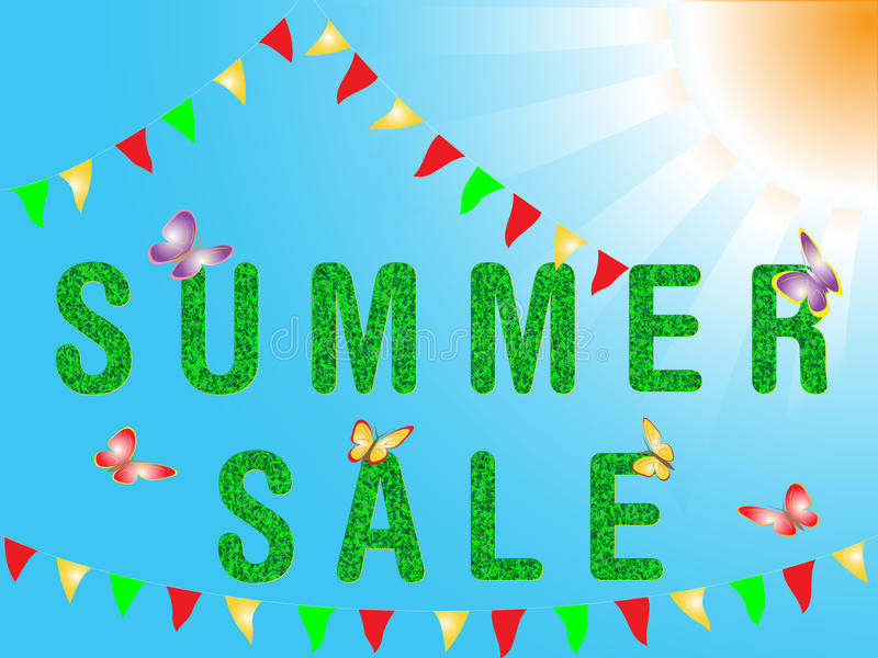 Download Summer sale stock vector. Image of advertisement, idea - 24439400