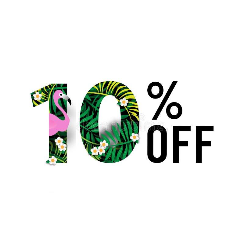 Summer Sale Background ,Ten Percent Off Template Vector stock illustration