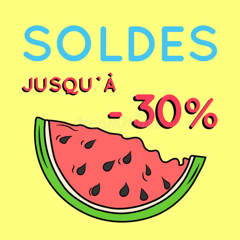 Summer sale background with watermelon. stock photography