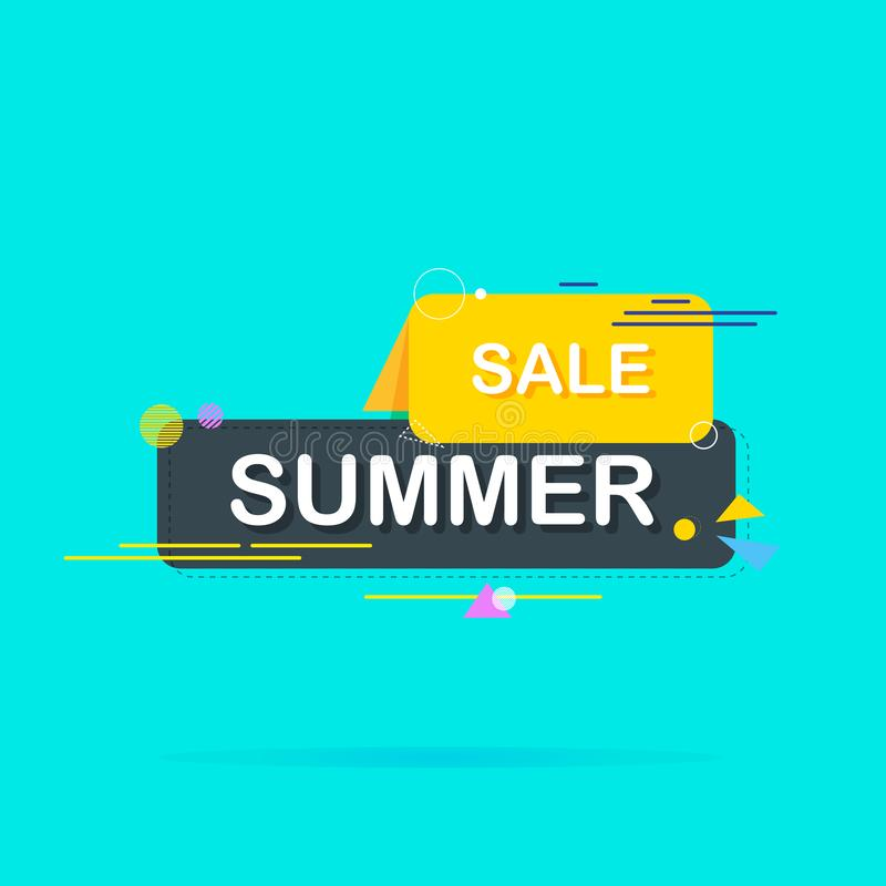 Summer sale banner, bright design. Idea for websites and advertisements. Vector illustration stock illustration