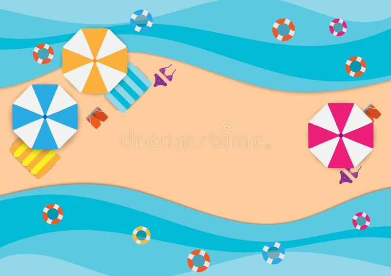 summer sale banner promotion stock illustration