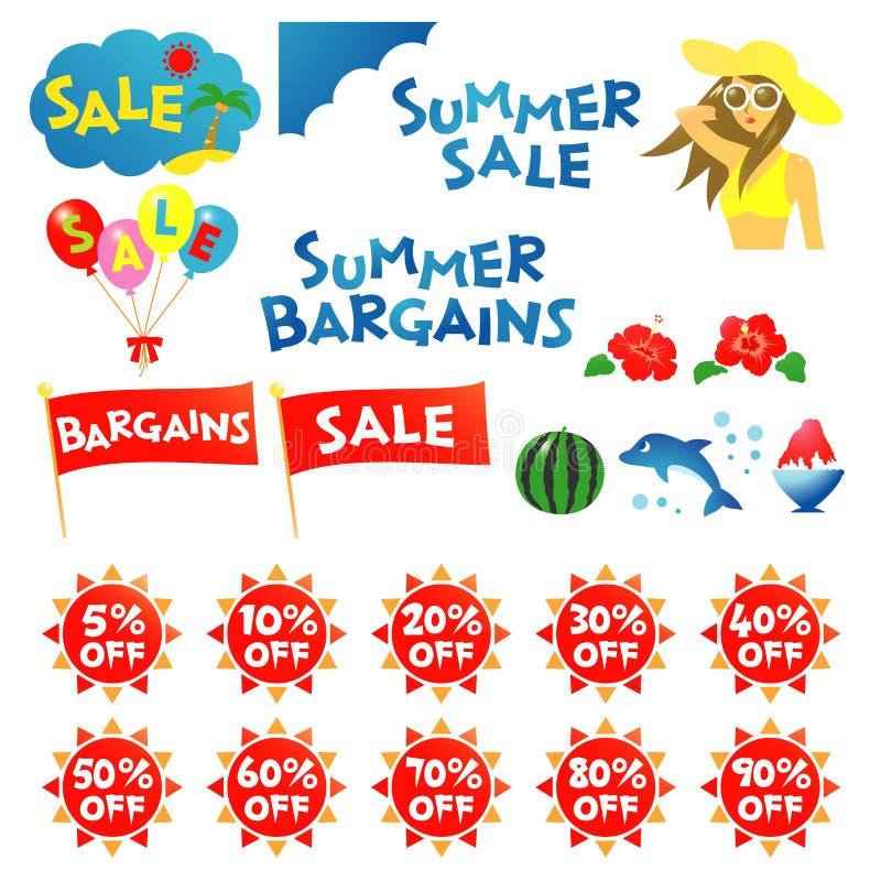 Download Summer sale stock vector. Image of half, discount, hibiscus - 42861993