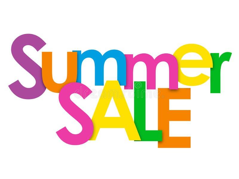 SUMMER SALE colorful letters banner vector illustration