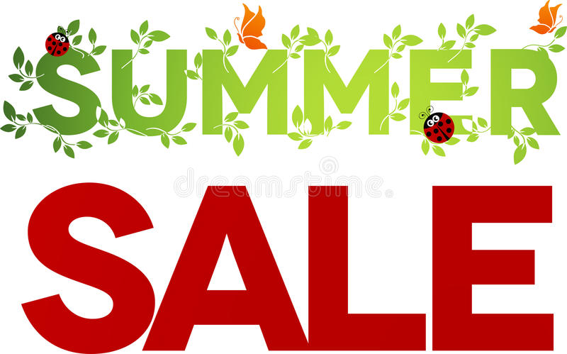 Summer sale design royalty free illustration
