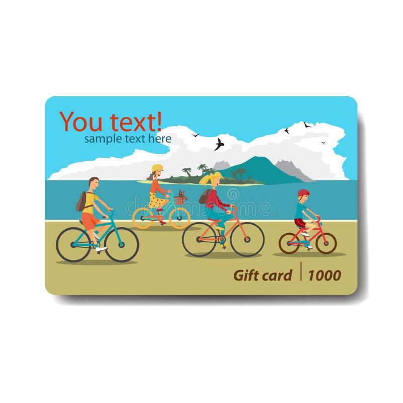 Beach Theme Card Stock: Summer Sale Discount Gift Card. Branding Design For Travel