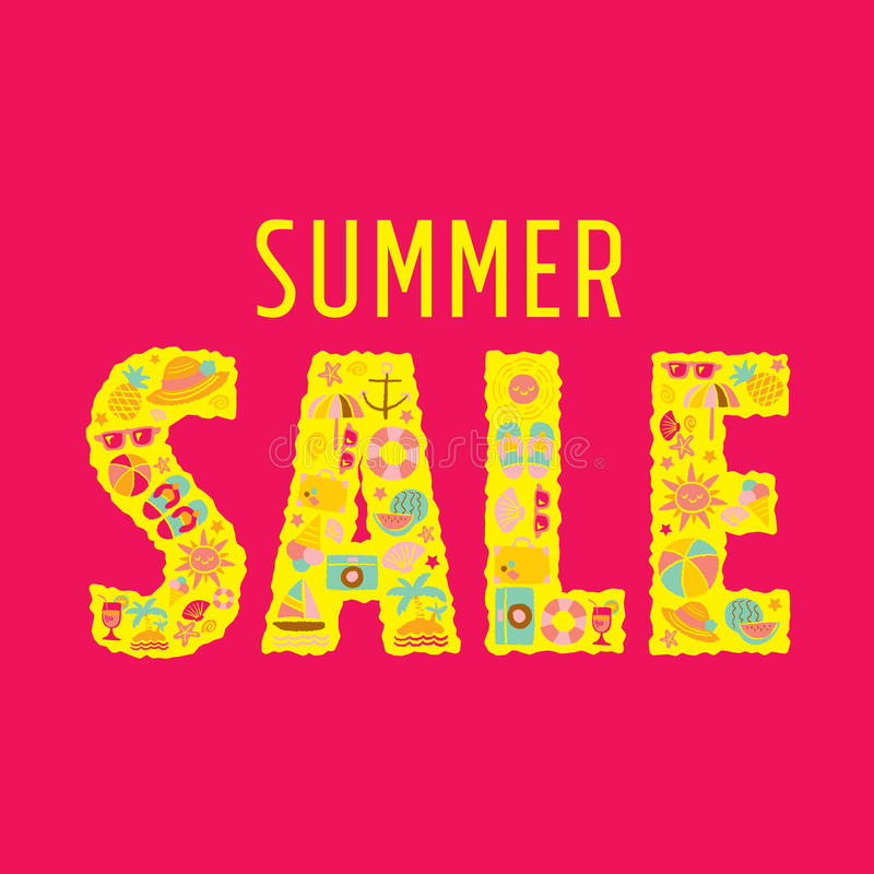 Summer sale stock illustration