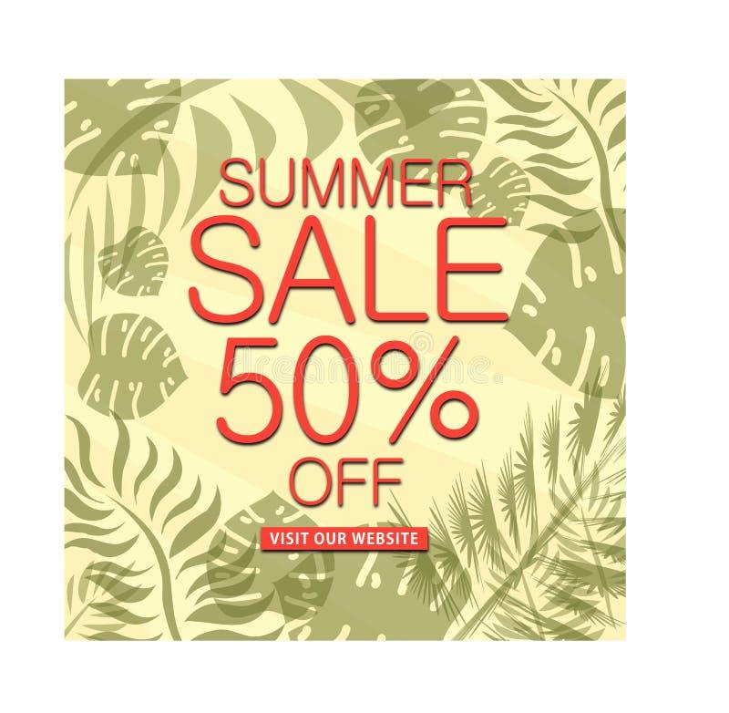 Summer Sale, Mega sale  special offer banner. Vector illustration royalty free illustration
